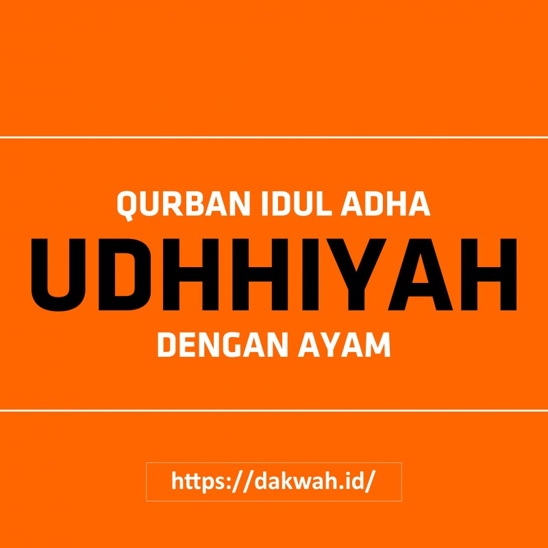 Qurban Idul Adha (Udhhiyah) Dengan Ayam