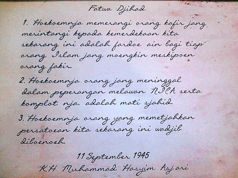 jihad literasi fatwa jihad hasyim asyari-dakwah.id
